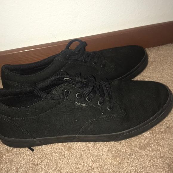 Vans Shoes | All Black Lace Up | Poshmark